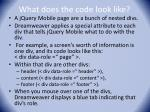 what does the code look like