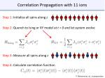 correlation propagation with 11 ions