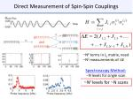 direct measurement of spin spin couplings