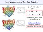 direct measurement of spin spin couplings1
