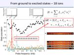 from ground to excited states 18 ions2