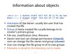 information about objects1