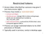 restricted tokens