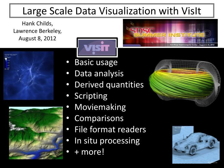 large scale data visualization with visit n.