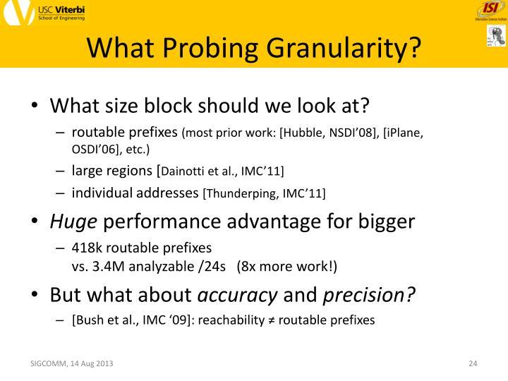 What Probing Granularity?