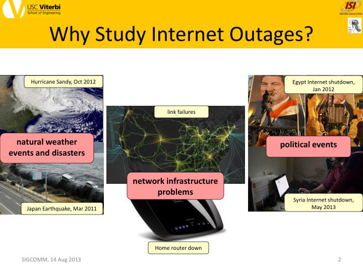 Why study internet outages
