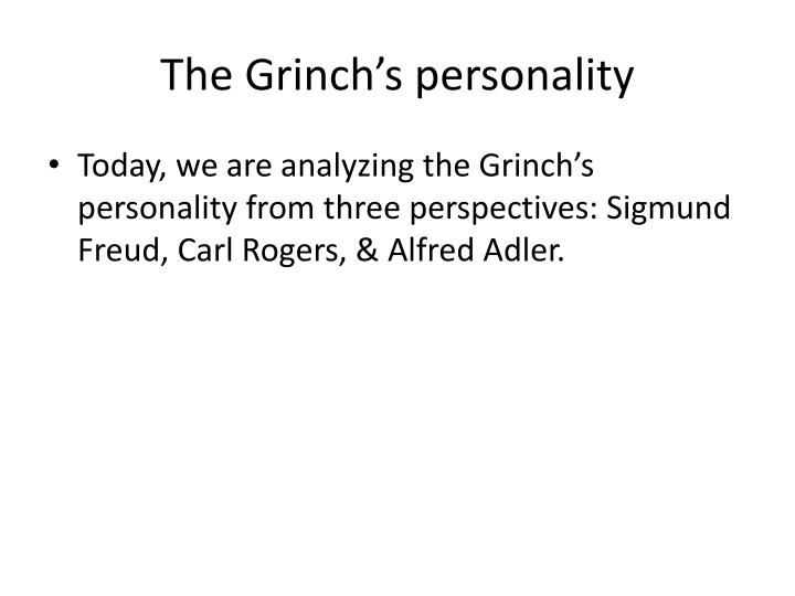 The grinch s personality