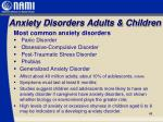anxiety disorders adults children