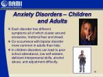 anxiety disorders children and adults