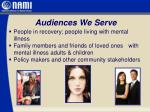 audiences we serve