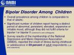 bipolar disorder among children