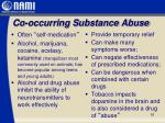 co occurring substance abuse