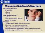 common childhood disorders