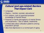 cultural and age related barriers that impact care