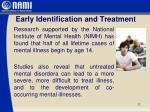 early identification and treatment