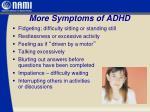 more symptoms of adhd