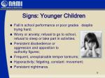 signs younger children