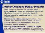 treating childhood bipolar disorder