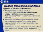 treating depression in children