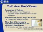 truth about mental illness