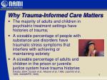 why trauma informed care matters