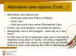 alternative care options cont
