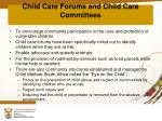 child care forums and child care committees