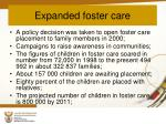 expanded foster care