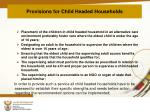 provisions for child headed households1