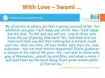 with love swami