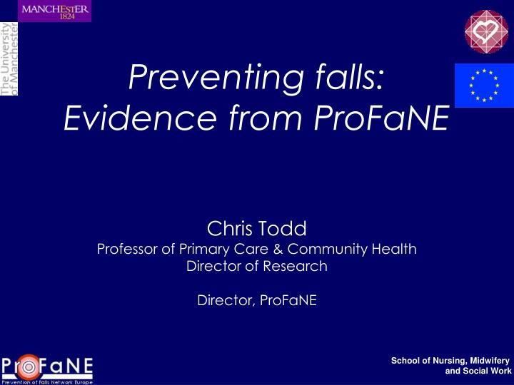 preventing falls evidence from profane n.