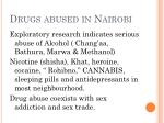 drugs abused in nairobi