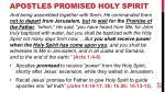 apostles promised holy spirit