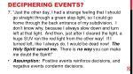 deciphering events