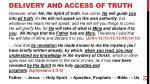 delivery and access of truth