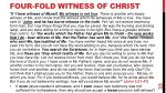 four fold witness of christ