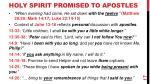 holy spirit promised to apostles