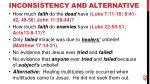 inconsistency and alternative