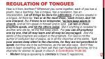 regulation of tongues