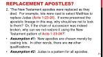 replacement apostles