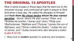 the original 12 apostles