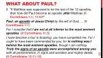 what about paul