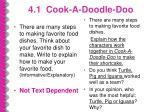 4 1 cook a doodle doo