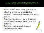 common core writing standards activity