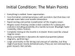 initial condition the main points