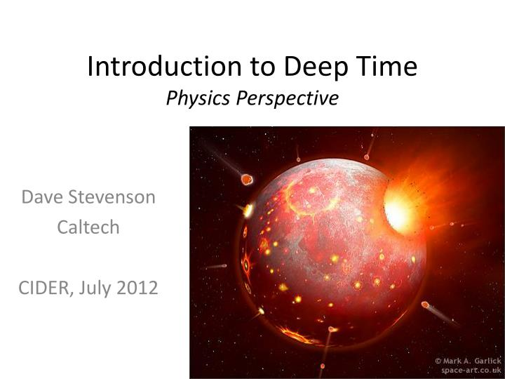 introduction to deep time physics perspective n.