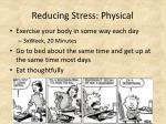 reducing stress physical