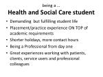 b eing a health and social care student