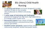 bsc hons child health nursing