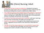 bsc hons nursing adult